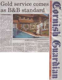 Cornish Guardian - Gold service comes as B and B standard